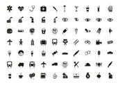 Silhouettes icons — Stock Vector