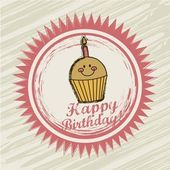 Birthday label — Vector de stock