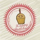 Etiqueta de cumpleaños — Vector de stock