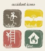 Accident icons — Stock Vector