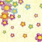 Flowers Icons — ストックベクタ