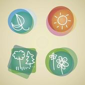 Planet Icons — Stock Vector