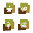 Coffee signs — Stock Vector