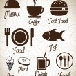 Stock Vector: Menu icons