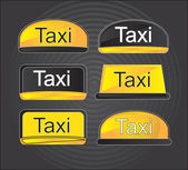 Icons taxi — Stock Vector