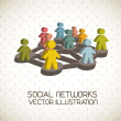 Social networks - Stock Vector