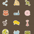 Communication icons — Grafika wektorowa