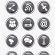 Communication icons — Image vectorielle