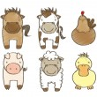 Farm animals — Stock Vector #17039561
