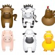Farm animals — Stock Vector #17042403