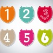 Numbers Icons — Stock Vector