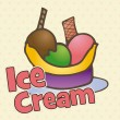 Ice Cream Icons — Vettoriale Stock #17055931