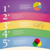 Numbers Brochure — Stock Vector
