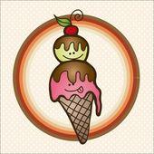 Ice Cream Icons — Stock Vector