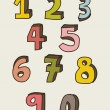 Numbers drawing — Grafika wektorowa
