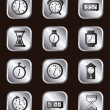 Clock icons — Stock vektor #17401337