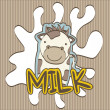 Milk vector — Stock Vector
