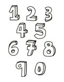 Numbers drawing — Stockvektor