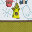 Bird houses — Vector de stock