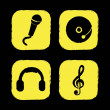 Royalty-Free Stock Imagem Vetorial: Music icons