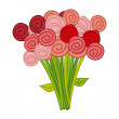 Cute roses — Stockvectorbeeld