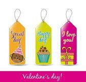 Valentines etiketten — Stockvector