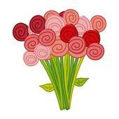 Cute roses — Stock Vector