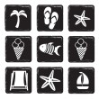 Vector de stock : Vacation icons