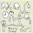 Royalty-Free Stock Vector Image: Back To school Icons