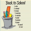 Back To school Icons — Vector de stock