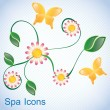 Spa Icons — Stock Vector
