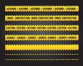 Försiktighet linjer — Stockvektor