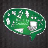 Powrót do szkoły ikony — Wektor stockowy