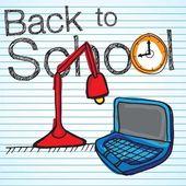 Zpátky do školy ikony — Stock vektor