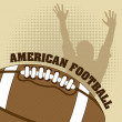 American football — Stock Vector #18657639