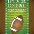 American football — Stock Vector