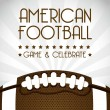 US-amerikanischer American-football — Stockvektor  #18657709