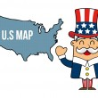 Uncle sam — Stock Vector #18657721