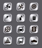 Car maintenance and repair icons — Stock Vector