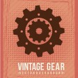 Gears vector — Stockvektor