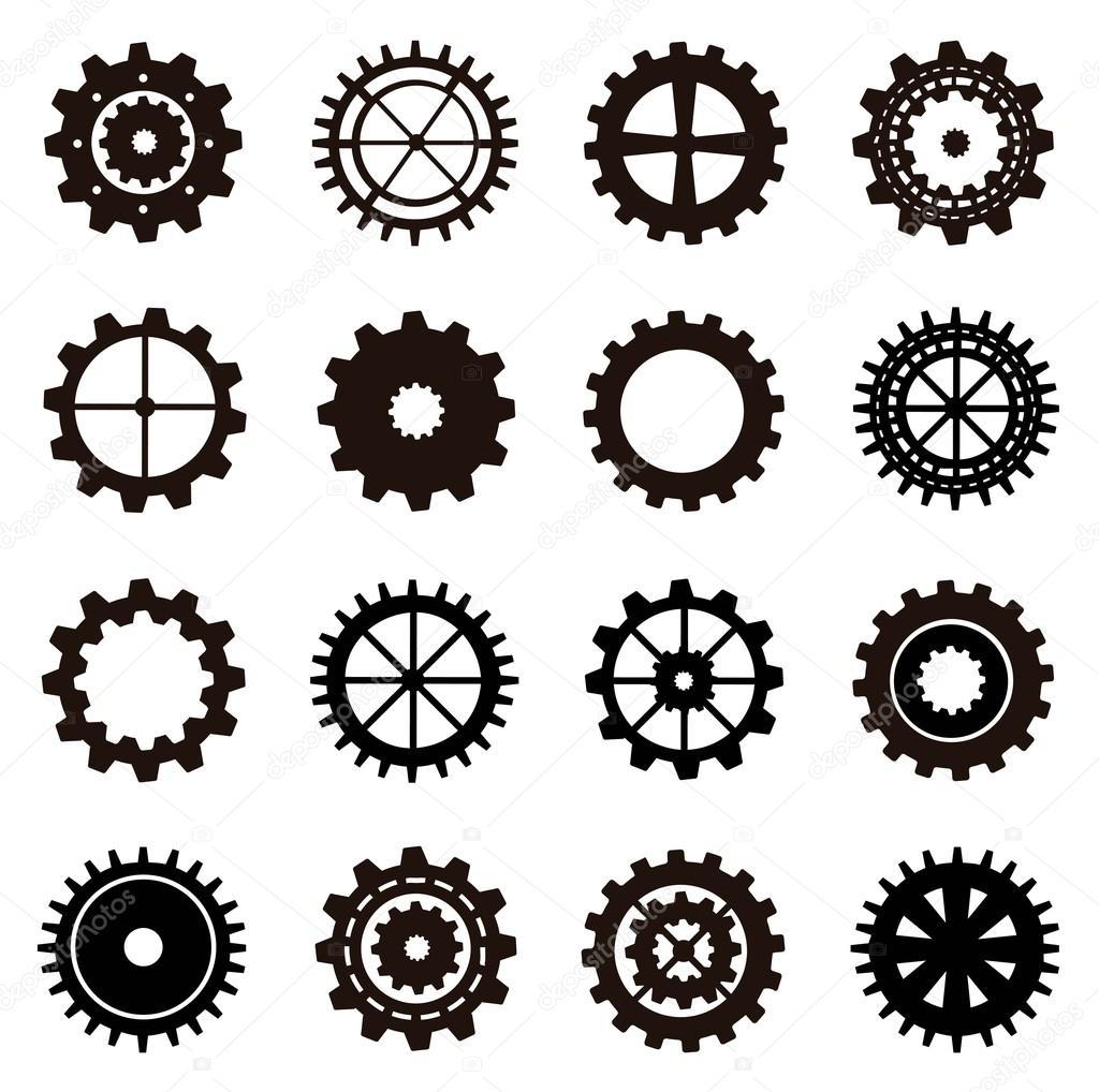 Gears vector — Stock Vector © yupiramos #18690859