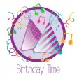 Stock Vector: Birthday hat icons