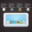 MOBILE SALES ICONS — Stockvectorbeeld