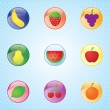 Stock Vector: Fruits Icons set