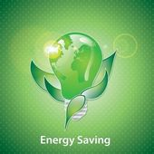 Risparmio energetico — Vettoriale Stock