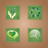 Energooszczędny zestaw ikon — Wektor stockowy