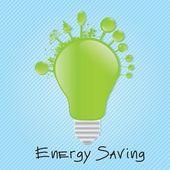 Energy Saving — Stock Vector