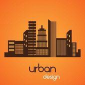 şehir manzarası — Stok Vektör