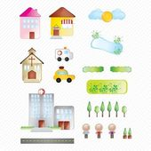 Buildings and city — Stock Vector
