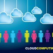 Cloud Computing — Grafika wektorowa